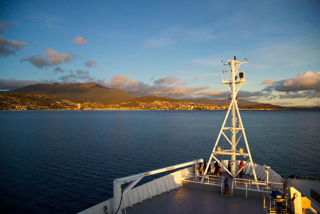 Approaching Hobart