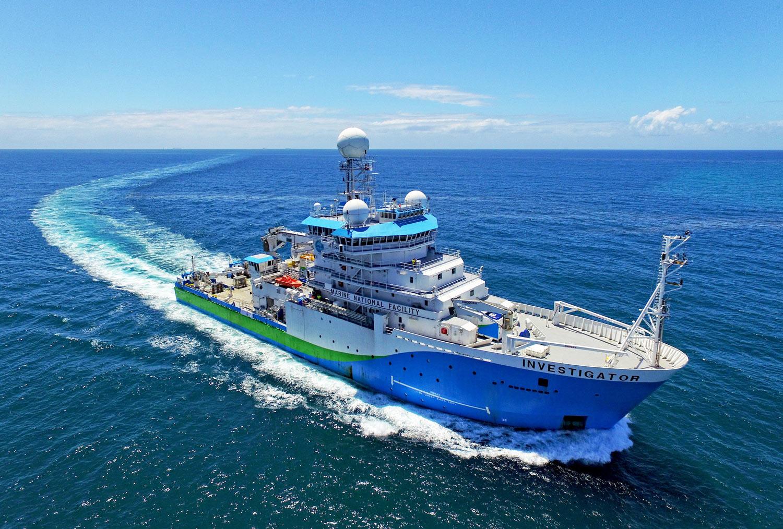 Research Vessel Investigator in open ocean