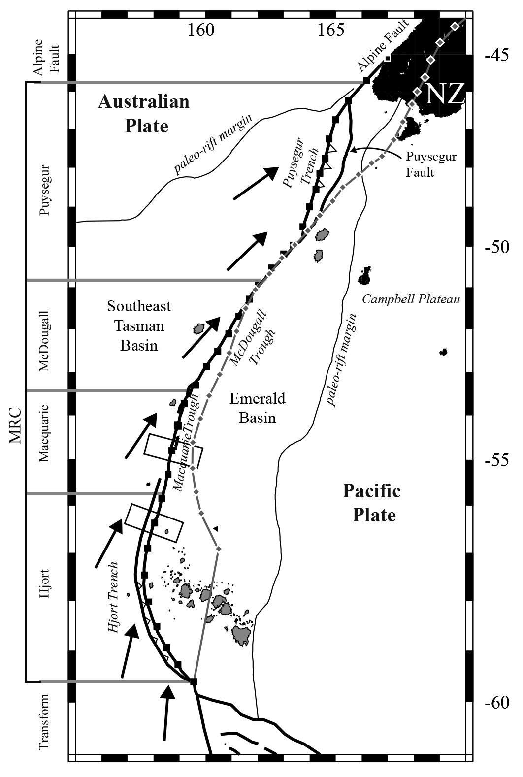 Physiography of the Macquarie Ridge Complex