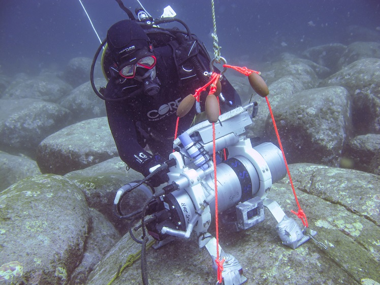 Diver with data logger